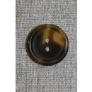 Knap klar/brun meleret, 22 mm.
