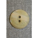 2-huls knap beige/lysegul, 20 mm.
