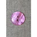 Blank 2-huls knap lyserød/pink, 15 mm.