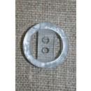 Lyseblå2-huls knap m/kant, 18 mm.