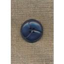 4-huls knap støvet blå 3-delt, 25 mm.