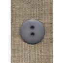 2-huls knap grå, 18 mm.