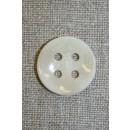 Off-white meleret 4-huls knap, 22 mm.