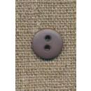 2-huls knap grå-brun 12 mm.