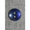 Blå-lilla 2-huls knap, 13 mm.