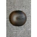 Brun/beige meleret knap, 15 mm.