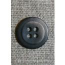 4-huls knap m/skygge mørkebrun/beige, 15 mm.
