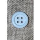 4-huls knap babylyseblå, 14 mm