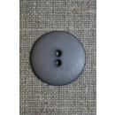 Grå 2-huls knap, 22 mm.