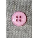 4-huls knap lyserød 13 mm.