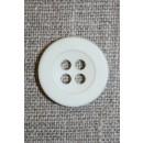 Knækket hvid 4-huls knap 20 mm