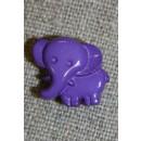 Knap m/elefant, lilla
