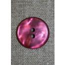 Blank 2-huls knap lyng/pink, 20 mm.