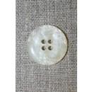 Off-white knap i perlemors-look, 20 mm.