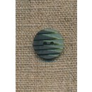 2-farvet knap m/riller grøn/mørkegrøn, 15 mm.
