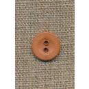 2-huls knap lys brændt orange/brun 14 mm.