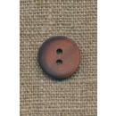 2-huls knap pudder-brun m/skygge, 15 mm.