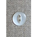 Blank 2-huls knap off-white 12 mm.