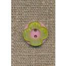 Blomster knap lyserød/lime