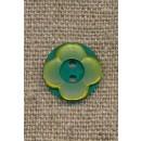 Blomster knap lime/grøn