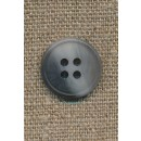 4-huls knap meleret grå/lysegrå, 17 mm.