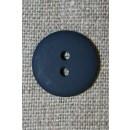 2-huls knap mørkeblå 18 mm.