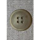 4-huls knap meleret beige/kit, 20 mm.