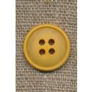 4-huls knap meleret carry gul, 18 mm.