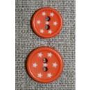 2-huls knap m/stjerner, orange