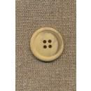 4-huls knap meleret creme/lysegul, 23 mm.