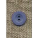 Ru 2-huls knap, denim blå 14 mm.