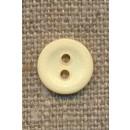 Ru 2-huls knap, lysegul 11 mm.