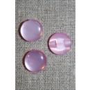 Rund blank knap 12 mm. lyserød