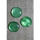 Rund blank knap 12 mm. grøn