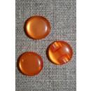 Rund blank knap 12 mm. orange