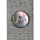 Perlemors knap pudder-brun, 12 mm.