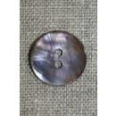 Perlemors knap pudder-brun, 18 mm.
