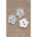 Blomster knap hvid -15 mm