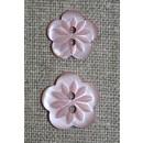 Blomster knap lys gammel rosa i 2 str.