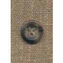2-huls knap meleret grå 15 mm.