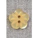 Blomster knap i gul, 15 mm.