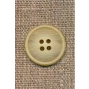 Støvet gul meleret 4-huls knap, 20 mm.