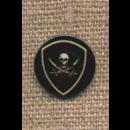 2-huls Knap med kranie og sabel i sort