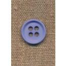4-huls knap i lys blå 18 mm.