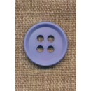 4-huls knap i lys blå 23 mm.