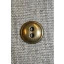 Lille 2-huls metal knap, gl.guld