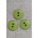 2-huls knap i lime-grøn 15 mm.