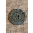 Støvet grøn krakeleret knap, 23 mm.