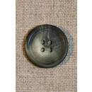 Grå/grøn 4-huls knap 20 mm