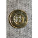 4-huls metal-knap guld, 18 mm.